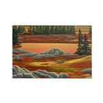Polar Bear Art Rectangle Magnet (10 pack)