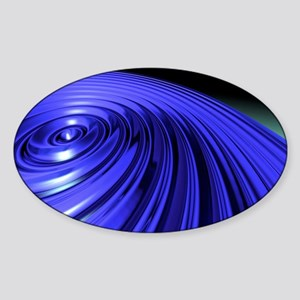 Swirl, abstract artwork Sticker (Oval)