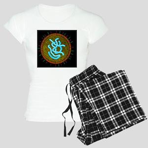 Swine flu virus particle, a Women's Light Pajamas