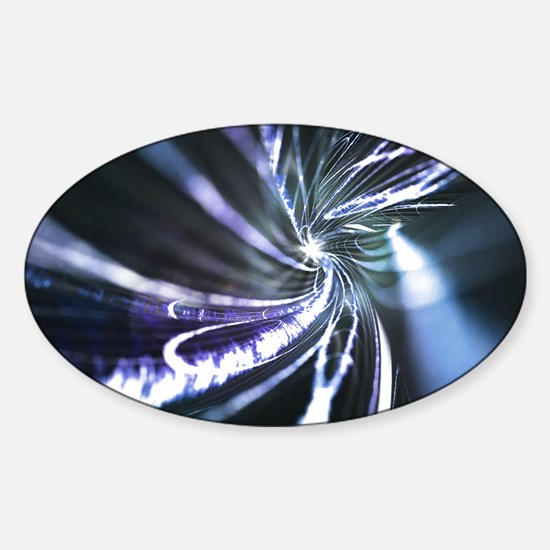 Superconductor, conceptual image Sticker (Oval)