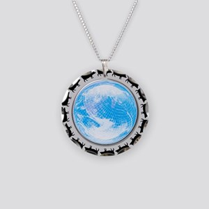 Swine flu pandemic, conceptu Necklace Circle Charm