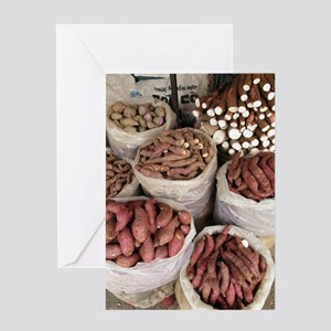 Sweet potato and cassava roots Greeting Card