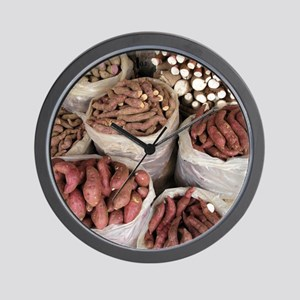Sweet potato and cassava roots Wall Clock