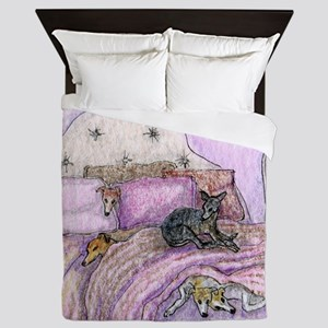 Sighthounds slumber party Queen Duvet
