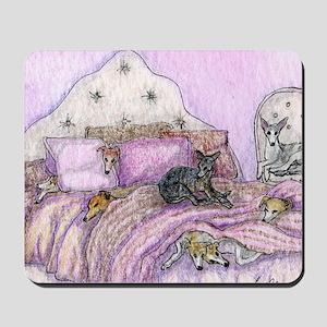 Sighthounds slumber party Mousepad