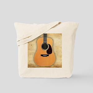 Acoustic Guitar (square) Tote Bag