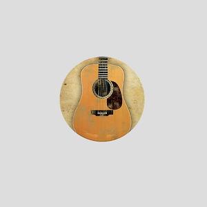 Acoustic Guitar worn (square) Mini Button