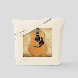 Acoustic Guitar worn (square) Tote Bag