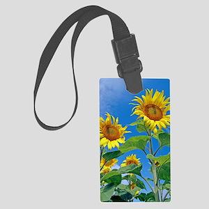 Sunflowers (Helianthus sp.) Large Luggage Tag
