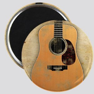 Acoustic Guitar worn (square) Magnet