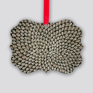 Sunflower seed head Picture Ornament