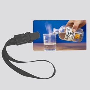 Sulphuric acid added to water Large Luggage Tag