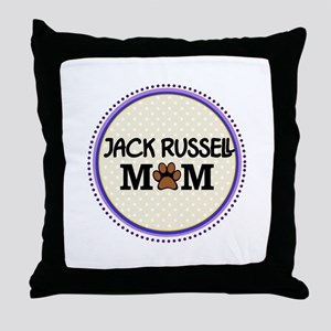 Jack Russell Dog Mom Throw Pillow