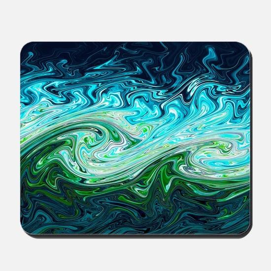 Storm waves, chaos model Mousepad