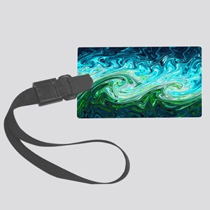 Storm waves, chaos model Large Luggage Tag