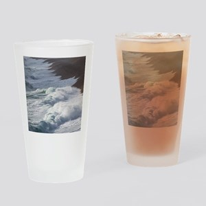 Storm waves at Chesil Beach Drinking Glass