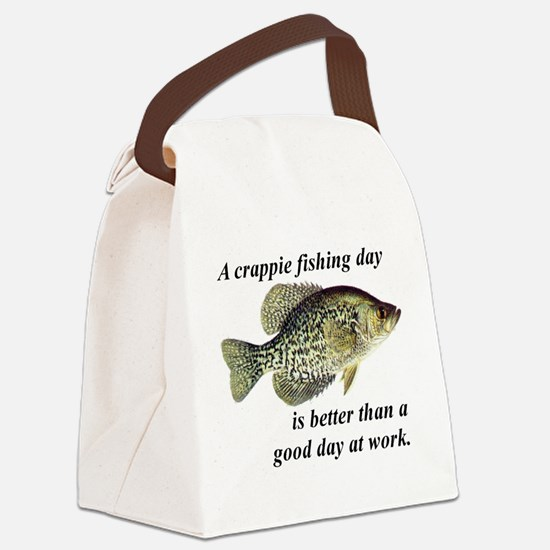 Funny Fishing Canvas Lunch Bag