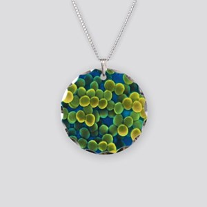 Staphylococcus bacteria Necklace Circle Charm