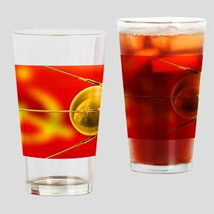 Sputnik 1, artwork Drinking Glass