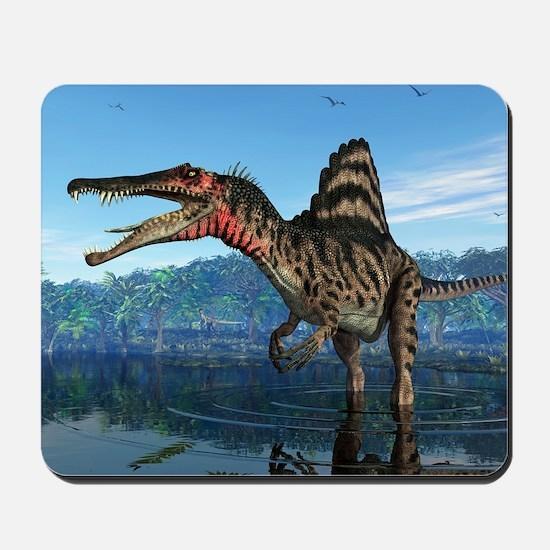 Spinosaurus dinosaur, artwork Mousepad