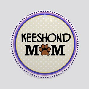 Keeshond Dog Mom Ornament (Round)
