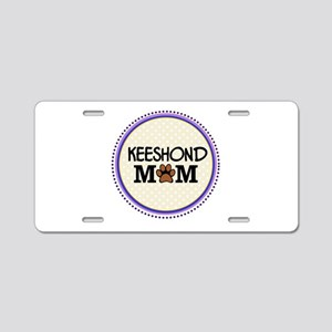 Keeshond Dog Mom Aluminum License Plate
