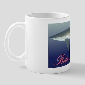 Shark - Bite me slogan Mug