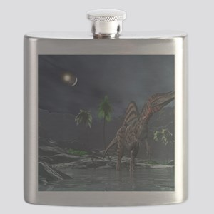 Spinosaurus witnessing a lunar impact Flask
