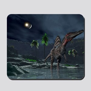 Spinosaurus witnessing a lunar impact Mousepad