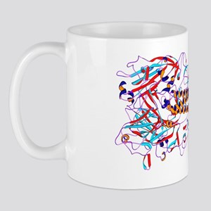 Spanish flu H1 antigen, molecular model Mug