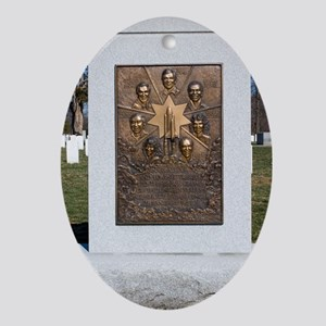 Space Shuttle Challenger memorial Oval Ornament