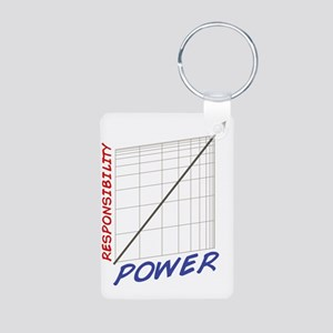 With Great Power Aluminum Photo Keychain