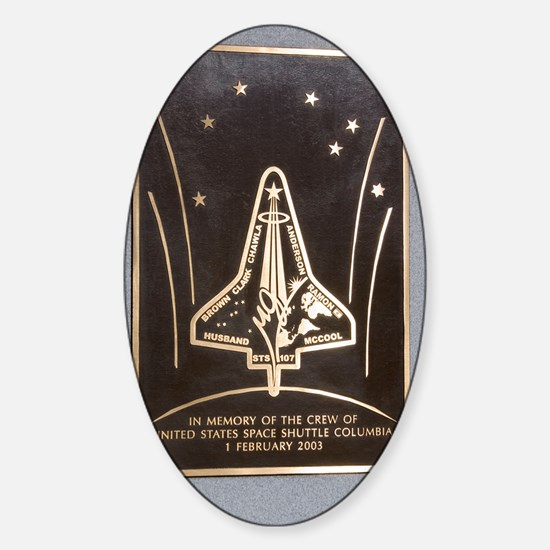 Space Shuttle Columbia memorial Sticker (Oval)