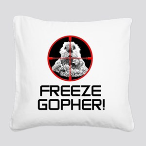 Caddyshack Freeze Gopher Square Canvas Pillow