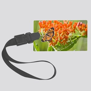Butterfly on Butterfly Milkweed Large Luggage Tag