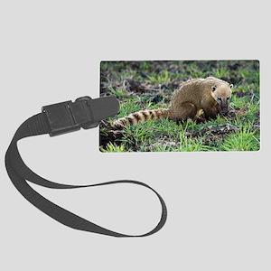 South American coati foraging Large Luggage Tag