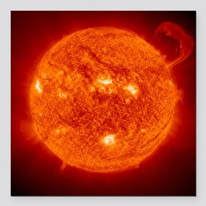 "Solar prominence Square Car Magnet 3"" x 3"""