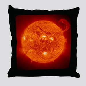 Solar prominence Throw Pillow