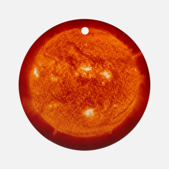 Solar prominence Round Ornament