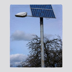 Solar powered street light, UK Throw Blanket