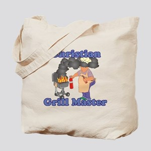 Grill Master Christian Tote Bag