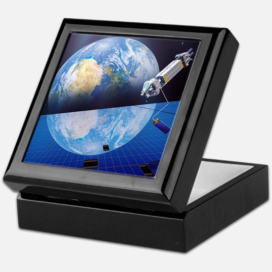 Solar power satellite, artwork Keepsake Box