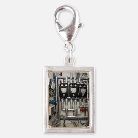Solar thermal heating system Silver Portrait Charm