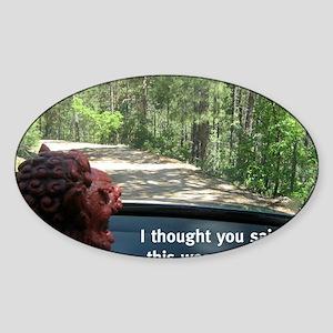Forest Adventurer Foo Sticker (Oval)