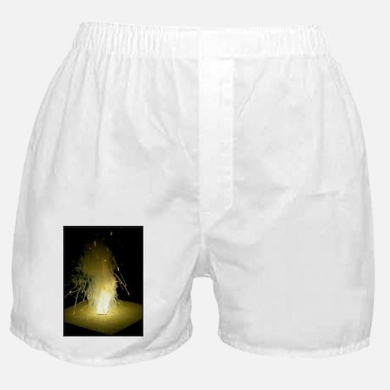 Sodium burning in air Boxer Shorts