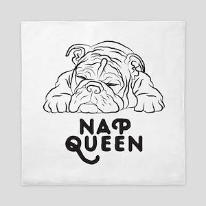 Napping Bulldog Queen Duvet