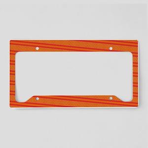 Orange Pattern Designer License Plate Holder