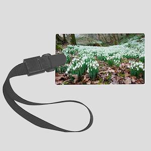 Snowdrops (Galanthus nivalis) Large Luggage Tag