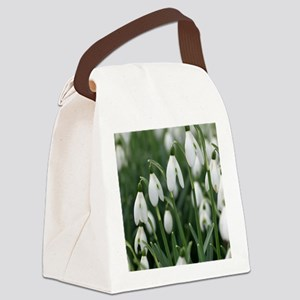Snowdrop (Galanthus nivalis) flow Canvas Lunch Bag