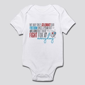 Fights for It Infant Bodysuit